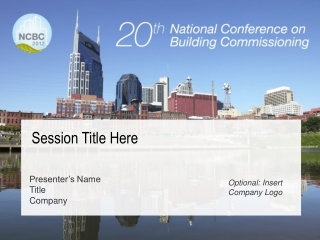 A Building Commissioning Overview