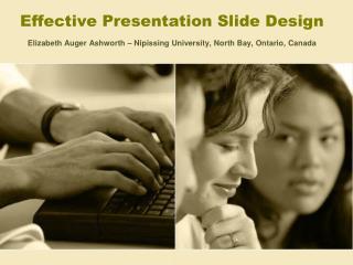 Effective Presentation Slide Design