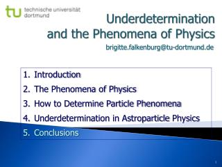 Underdetermination and the Phenomena of Physics