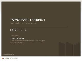 PowerPoint training 1