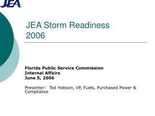 JEA Storm Readiness 2006