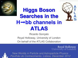 Higgs  Boson Searches  in the  H ➞bb  channels in ATLAS