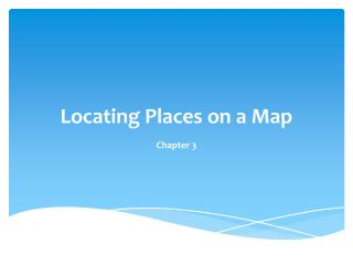 Locating Places on a Map