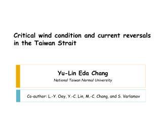 Yu-Lin Eda Chang National Taiwan Normal University