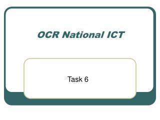 OCR National ICT