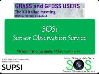 SOS:  Sensor Observation Service