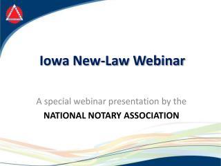 Iowa New-Law Webinar