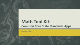 Math  Tool Kit: Common Core State Standards  Apps
