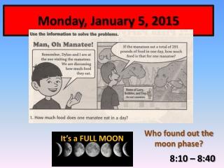 Monday, January 5, 2015