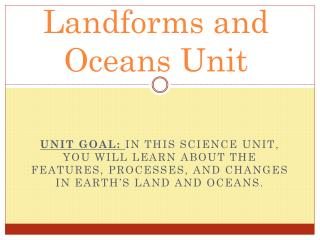 Landforms and Oceans Unit