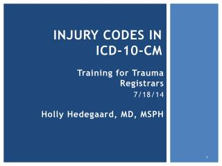 injury codes in  ICD-10-CM