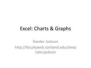 Excel: Charts & Graphs