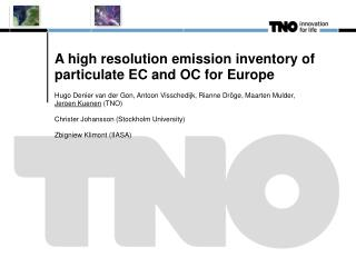A high resolution emission inventory of particulate EC and OC for Europe