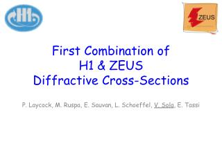 First Combination of H1 & ZEUS Diffractive Cross-Sections