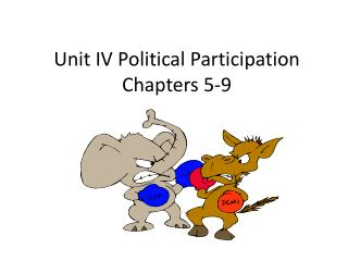 Unit IV Political Participation Chapters 5-9
