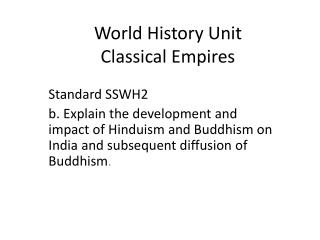 World History Unit Classical Empires