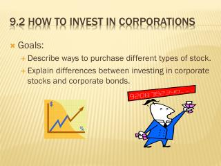9.2 How to invest in corporations
