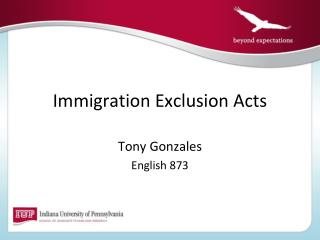 Immigration Exclusion Acts
