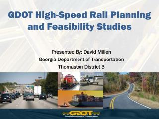GDOT High-Speed Rail Planning and Feasibility Studies