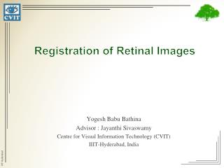 Registration of Retinal Images