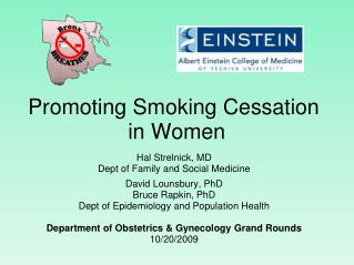 Promoting Smoking Cessation  in Women