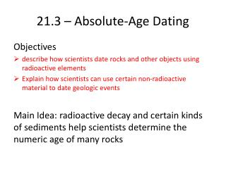 21.3 – Absolute-Age Dating