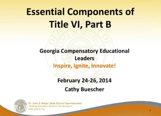 Essential Components of  Title VI, Part B