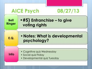 AICE Psych 		08/27/13