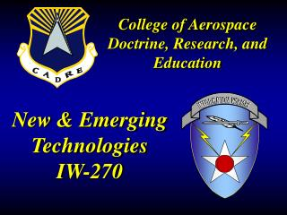 New & Emerging Technologies IW-270