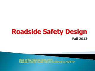 Roadside Safety Design