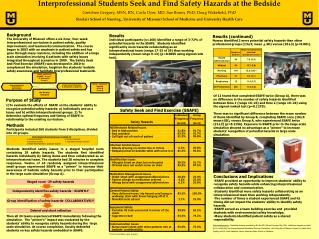 Interprofessional  Students Seek and Find Safety Hazards at the Bedside