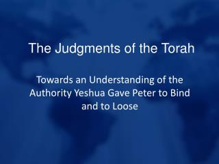 The Judgments of the Torah