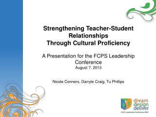 Strengthening Teacher-Student Relationships Through Cultural Proficiency