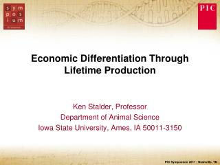 Economic Differentiation Through Lifetime Production