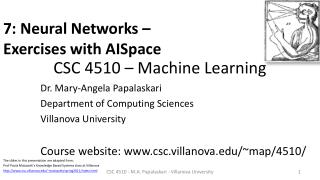 CSC 4510 – Machine Learning