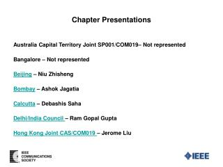 Chapter Presentations