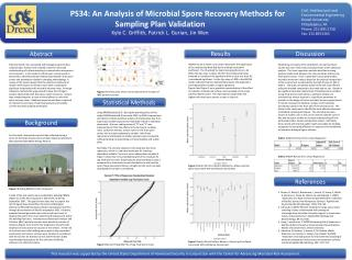 PS34: An Analysis of Microbial Spore Recovery Methods for Sampling Plan Validation