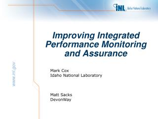 Improving Integrated  Performance Monitoring and Assurance