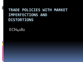 Trade Policies with Market Imperfections and Distortions