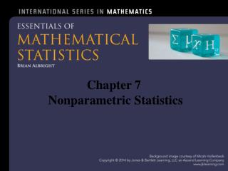 Chapter 7  Nonparametric Statistics