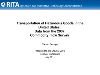 Transportation of Hazardous Goods in the United States: Data from the 2007  Commodity Flow Survey