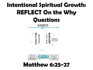 Intentional Spiritual Growth:  REFLECT On the Why Questions Matthew 6:25-27