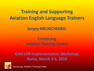 CompLang   Aviation Training Center