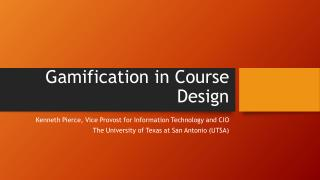 Gamification in Course Design