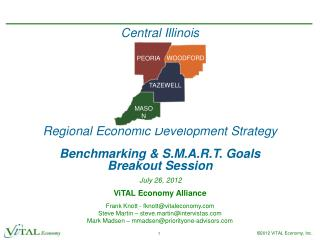 Central Illinois Regional Economic Development Strategy Benchmarking & S.M.A.R.T. Goals