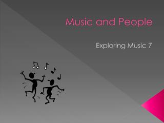 Music and People