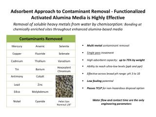 Multi-metal  contaminant removal Single pass  treatment