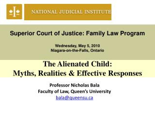 Superior Court of Justice: Family Law Program