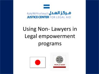 Using Non- Lawyers in Legal empowerment programs