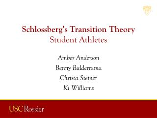 Schlossberg's Transition Theory Student Athletes